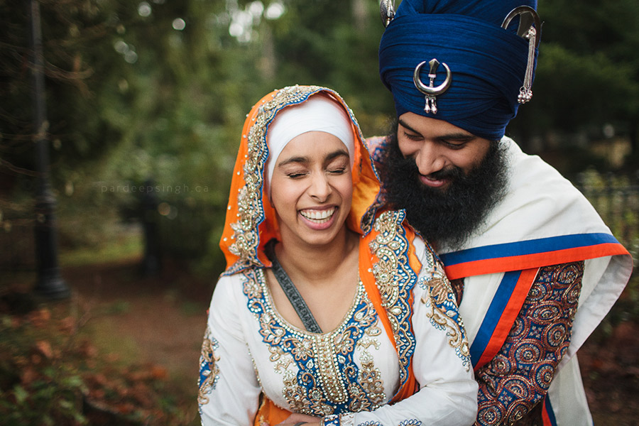 Sikh Bride & Groom Portrait