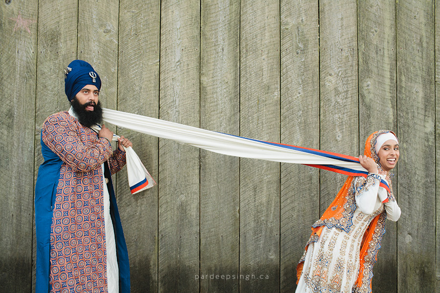 Sikh Bride & Groom Laughing